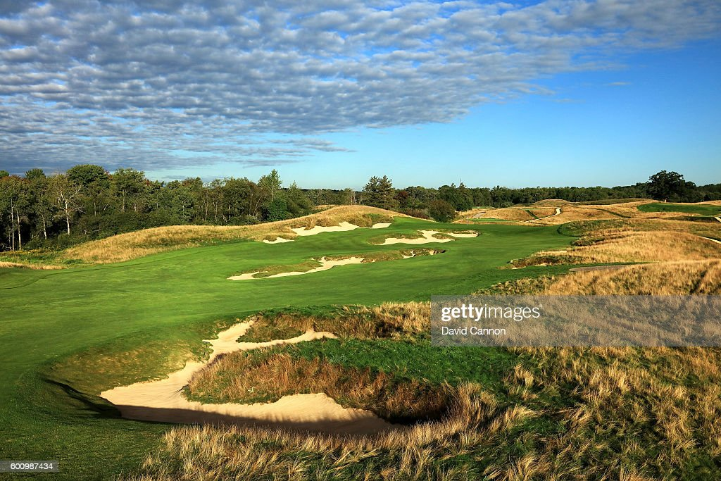 The 439 yards par 4, fourth hole at Erin Hills Golf Course the venue for the 2017 US Open Championship on September 1, 2016 in Erin, Wisconsin.