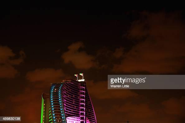 The 43rd United Arab Emirates National Day celebrations are pictured near the Burj Al Arab on December 2 2014 in Dubai United Arab Emirates