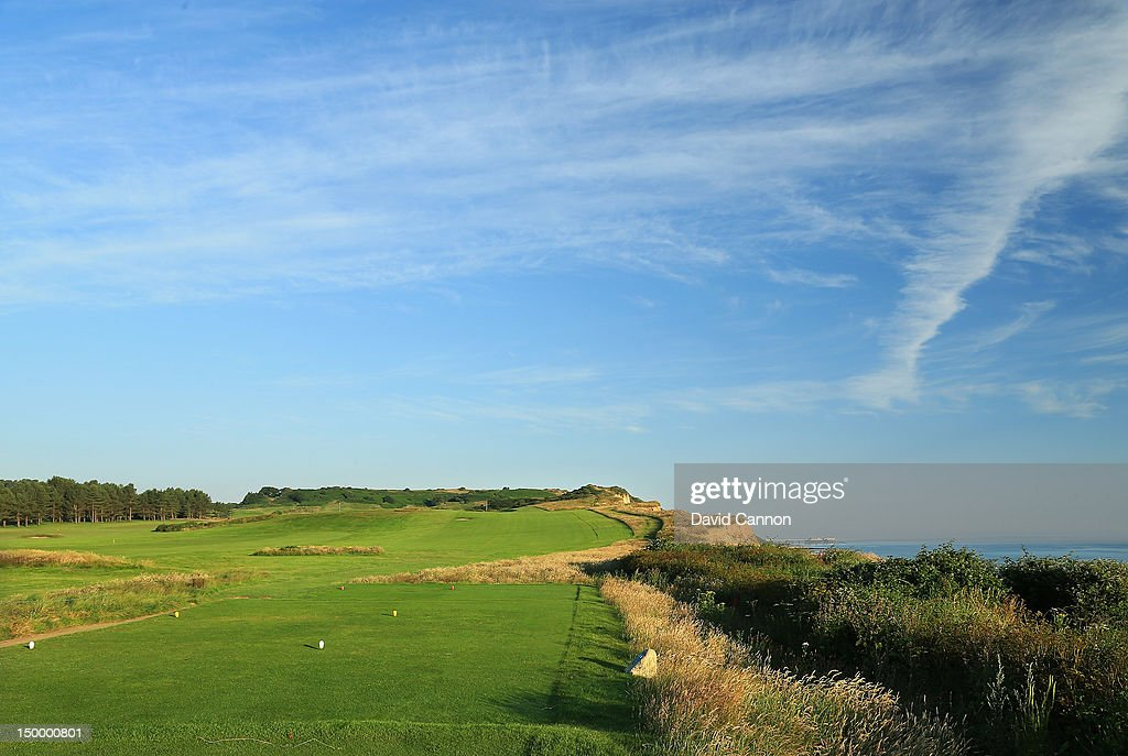 The 444 yards par 4 6th hole 'Cliff Hanger' at The Royal Cromer Golf Club on July 25 in Cromer Norfolk England