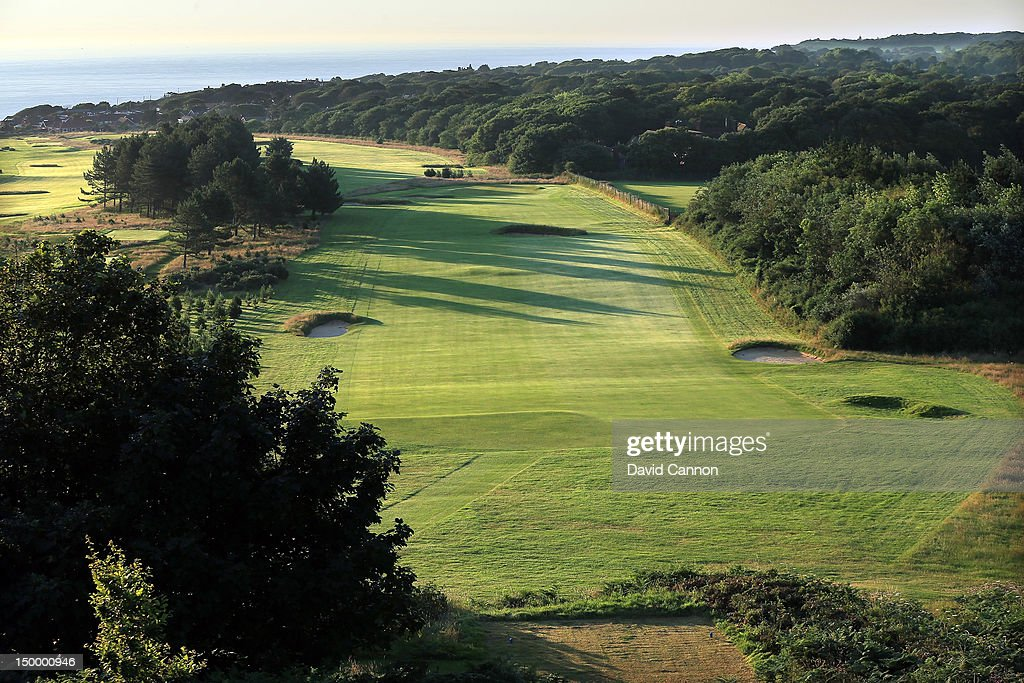 The 454 yards par 4 4th hole 'Parsons Hat' at The Royal Cromer Golf Club on July 25 in Cromer Norfolk England