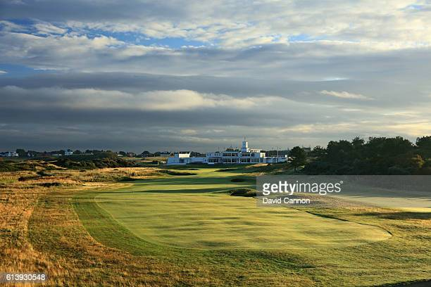 The 473 yards par 4 18th hole at Royal Birkdale Golf Club the host course for the 2017 Open Championship on October 11 2016 in Southport England