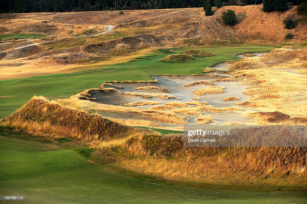 the 482 yards par 4 7th hole at chambers bay golf course venue for the 2015 us open. Black Bedroom Furniture Sets. Home Design Ideas