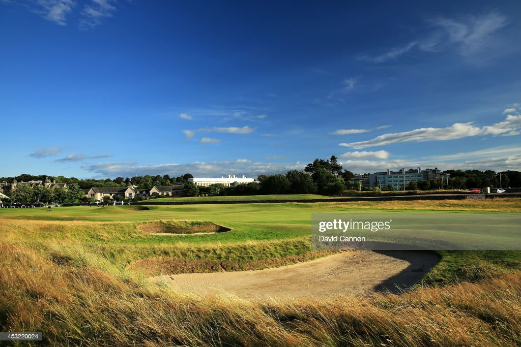 The 495 yards par 4, 17th hole 'Road' on the Old Course at St Andrews venue for The Open Championship in 2015, on July 29, 2014 in St Andrews, Scotland.