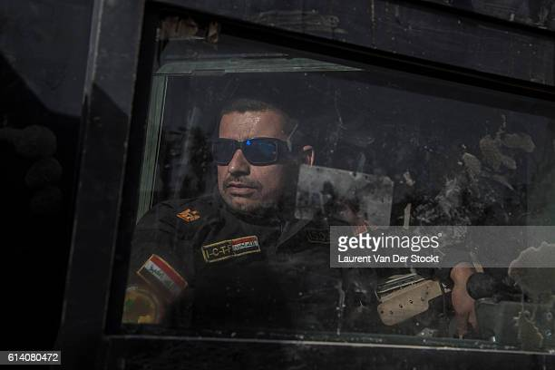 FALLUJAH IRAQ The 4th of JUNE 2016'nMajor Salam Jassim Hussein the combat chief who is leading the advance of the Golden Division under the command...