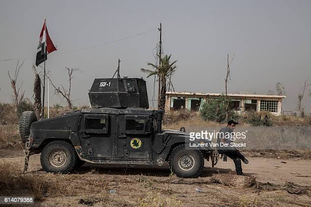 FALLUJAH IRAQ The 4th of June 2016'nThe head of the Golden Division'u2019s advance the Special Forces of the ICTF progress in Fallujah'u2019s suburbs...