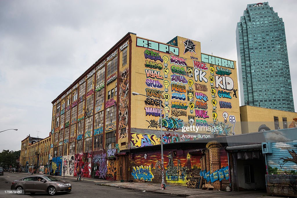 The '5 Pointz' building is seen on August 9 2013 in the Long Island City neighborhood of the Queens borough of New York City 5 Pointz is a series of...