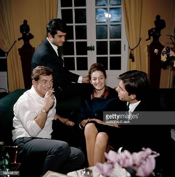 The 50Th Birthday Of Jean Marais MarneslaCoquette décembre 1963 JeanClaude BRIALY chez Jean Marais son 'parrain' de scène A droite Serge le fils...