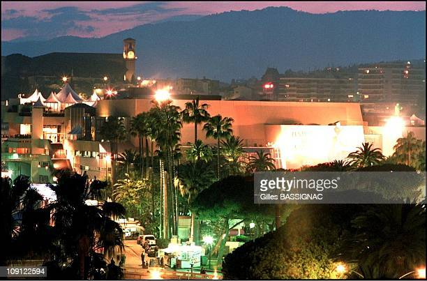 The 54Th Cannes Film Festival On January 5Th 2001 In Cannes France Le Palais Des Festivals And The Suquest Church By Night