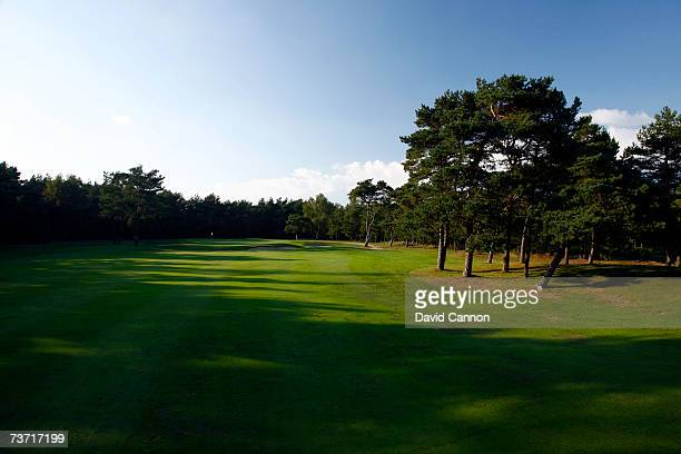 The 583 yards par 5 5th hole at the Halmstad Golfklubb venue for the 2007 Solheim Cup on September 17th in Halmstad Sweden