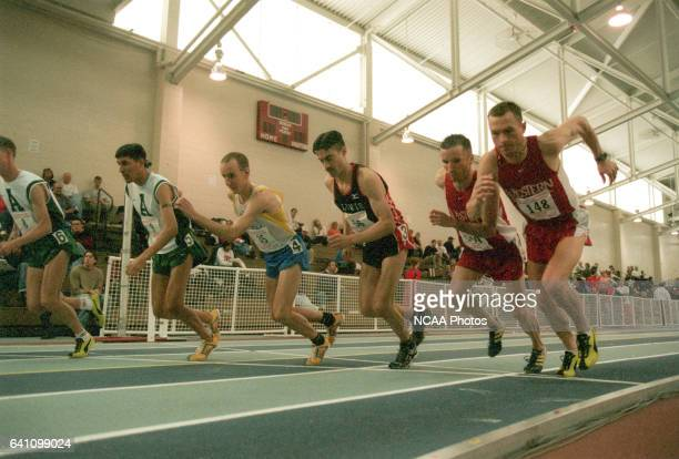 The 5K gets underway during the Division II Men's and Women's Indoor Track Championship held at the Reggie Lewis Center in Boston MA Winslow...