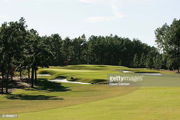 The 5th hole on The Pinehurst No 2 Course venue for the 2005 US Open on November 14 in Pinehurst North Carolina USA