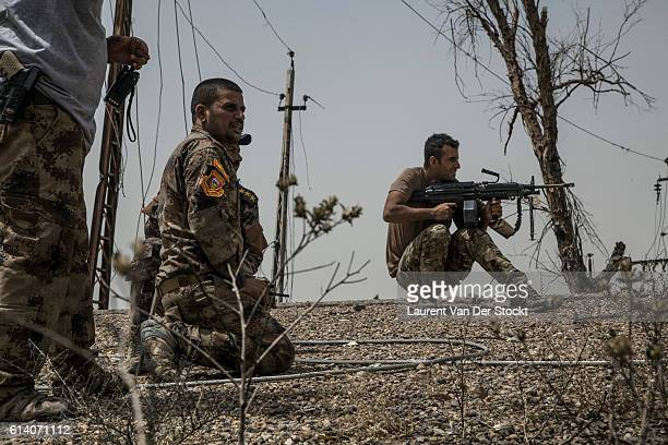FALLUJAH IRAQ The 5th of JUNE 2016'nMajor Salam Jassim Hussein the combat chief who is leading the advance of the Golden Division under the command...
