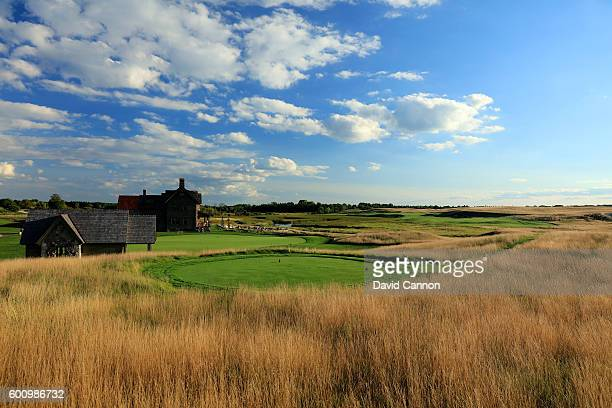 The 608 yards par 5 first hole at Erin Hills Golf Course the venue for the 2017 US Open Championship on August 31 2016 in Erin Wisconsin