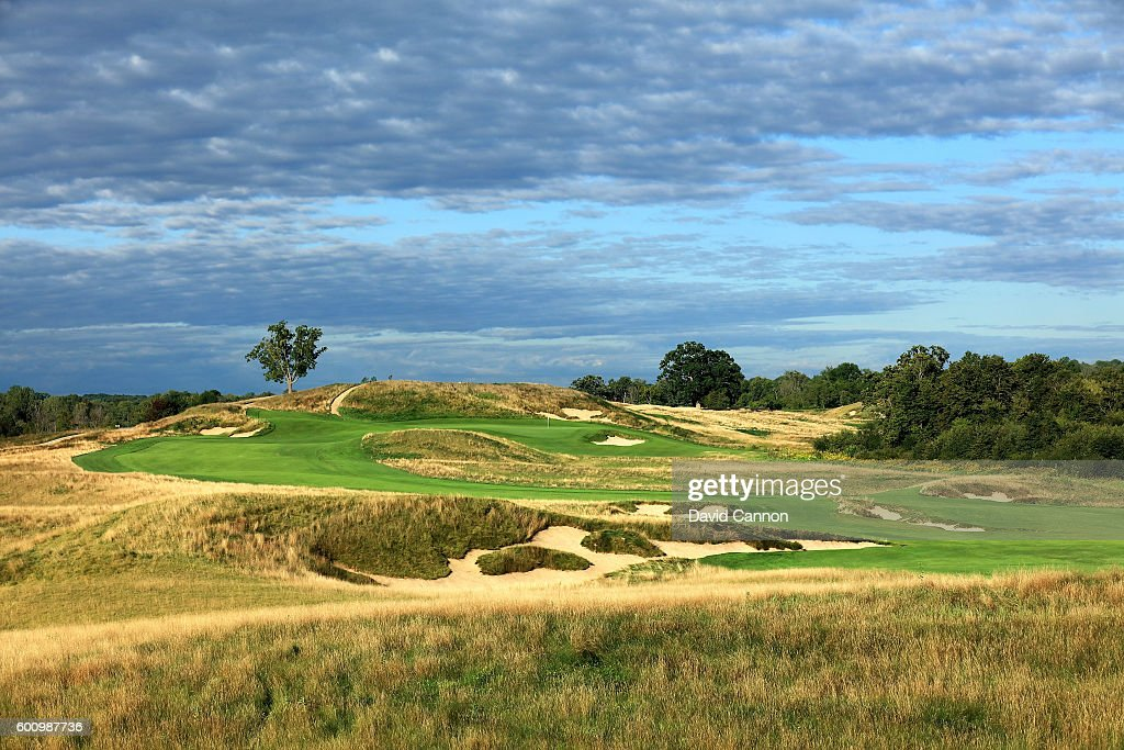The 613 yards par 5, 14th hole at Erin Hills Golf Course the venue for the 2017 US Open Championship on September 1, 2016 in Erin, Wisconsin.
