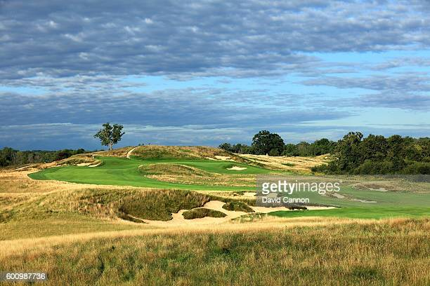 The 613 yards par 5 14th hole at Erin Hills Golf Course the venue for the 2017 US Open Championship on September 1 2016 in Erin Wisconsin