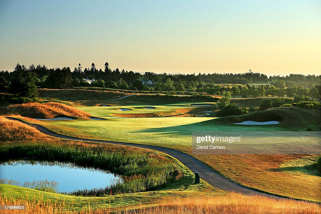 The 618 yards par 5 9th hole 'Crock O'Moss' on The PGA Centenary Course at The Gleneagles Hotel Golf Resort which will be the host venue for the 2014...