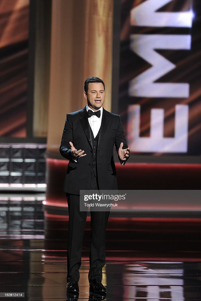 EMMY(r) AWARDS - The 64th Primetime Emmy Awards broadcasts live from 8:00-11:00 p.m., ET/5:00-8:00 p.m., PT., Sunday, September 23, 2012 exclusively on ABC. JIMMY