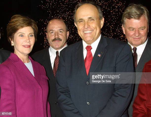 The 69th Annual Rockefeller Center Christmas Tree lighting takes place at Rockefeller Center with First Lady Laura Bush New York City Police...