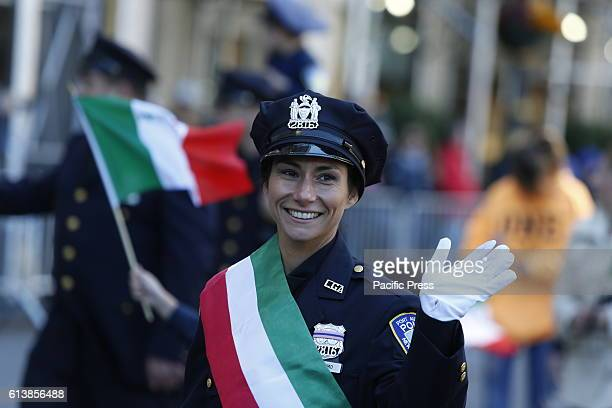The 72nd Annual Columbus Day Parade filled 5th Avenue from 44th to 72nd Streets Grand Marshal Robert La Penta honored guest chef Mario Batali jones...
