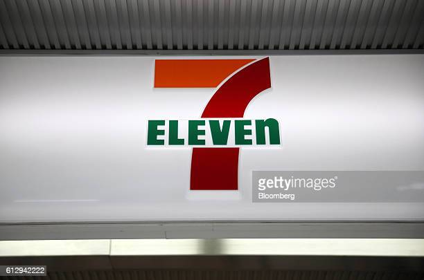 The 7Eleven logo is displayed at a 7Eleven convenience store operated by Seven i Holdings Co in Tokyo Japan on Thursday Oct 6 2016 The Japanese...