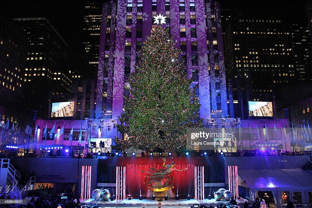 The 81st annual Rockefeller Center Christmas Tree Lighting Ceremony on December 4, 2013 in New York City.