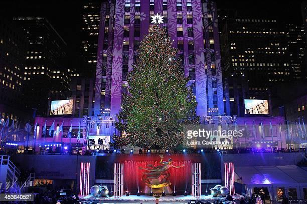 The 81st annual Rockefeller Center Christmas Tree Lighting Ceremony on December 4 2013 in New York City