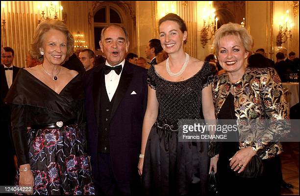 The 90th Birthday of Otto von Habsburg in Vienna Austria on November 20 2002 Princess MarieLouise of Prussia her husband Archduchess Gabriella and...