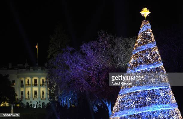 The 95th annual National Christmas Tree Lighting is held by the National Park Service at the White House Ellipse in Washington DC November 30 2017...