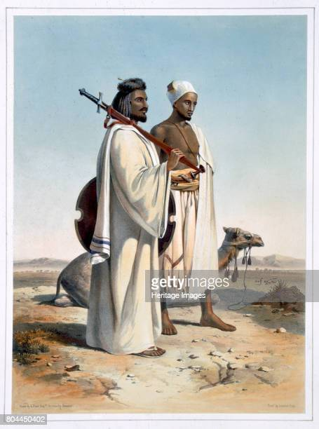 The Ababda nomads of the eastern Thebaid Desert 1848 Illustration from The Valley of the Nile by Emile Prisse d'Avennes Artist Freeman