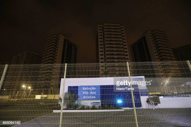 The abandoned Athlete's Village stands on March 13 2017 in Rio de Janeiro Brazil Seven months after the Rio hosted the first Olympic games in South...