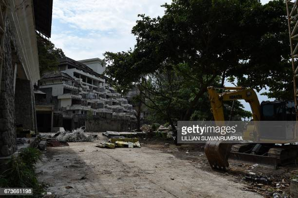 The abandoned building site where Wuttisan Wongtalay hung his 11 monthold daughter Natalie before taking his own life whilst broadcasting live on...