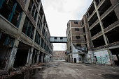 The abandoned Packard auto assembly plant stands in Detroit Michigan US on Tuesday April 21 2015 Arte Express Detroit LLC Chief Executive Officer...