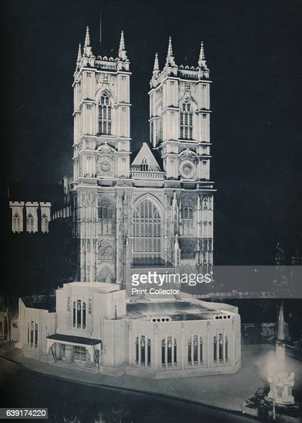 The Abbey Church of St Peter Westminster Showing the Temporary Annexe' 1937 King George ascended the throne upon the abdication of his brother King...