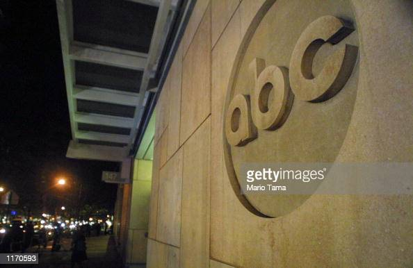 The ABC logo is displayed outside ABC News headquarters after an anthrax scare October 15 2001 in New York City The 7monthold son of an ABC News...