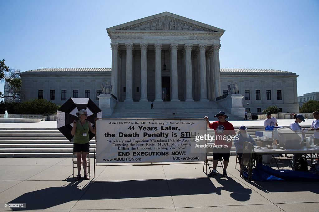 The Abolitionist Action Committee conducts a fast and vigil to abolish the Death Penalty for four days in front of Supreme Court of USA, in Washington, USA on June 29, 2016.