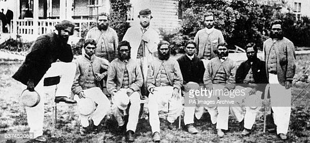 The Aboriginal team who were the first team from Australia to tour England pictured at the Albert Ground Sydney Tarpot TW Wills Johnny Mullagh King...