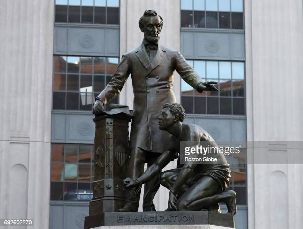 The Abraham Lincoln statue by Thomas Ball in Park Square in Boston is pictured on Jun 2 2017