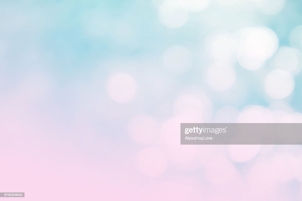 The abstract blue wave background on bokeh style : Foto de stock
