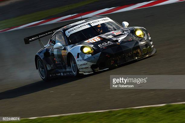 The Abu Dhabi Proton Racing Porsche of Khaled Al Qubaisi David Heinemeier Hansson and Patrick Long drives during the FIA World Endurance Championship...