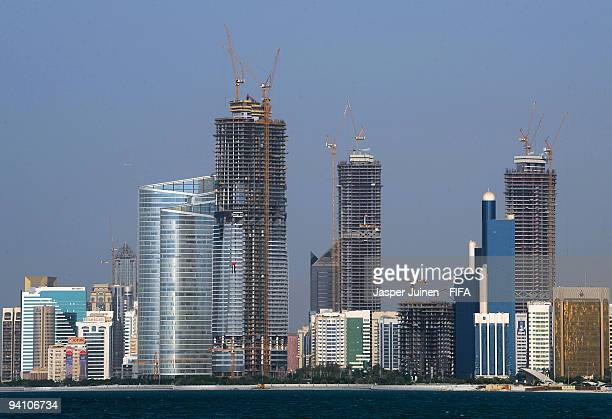 The Abu Dhabi skyline on December 7 2009 in Abu Dhabi United Arab Emirates Abu Dhabi will host the FIFA Club World Cup from the 9th to the 19th of...