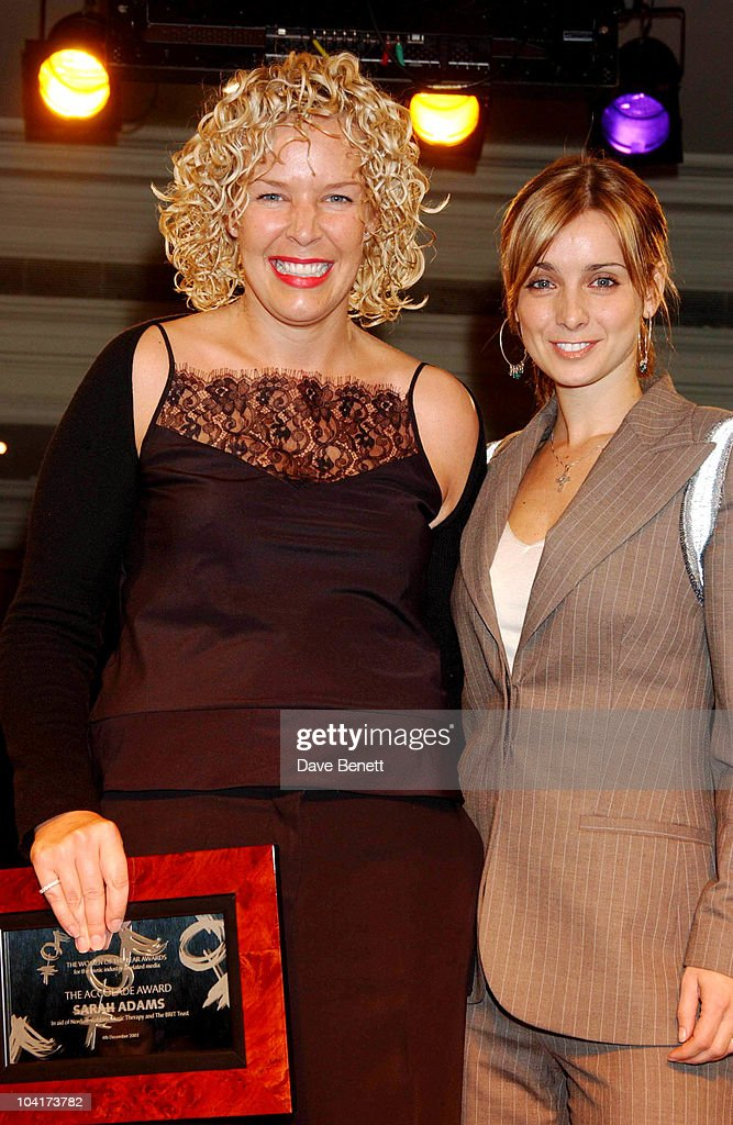 The Accolade Award Winner Sarah Adams With Louise Redknapp, Women Of The Year Award In Aid Of Nordoff Robins Music Therapy & The Brit Trust, A Night When Women In The Music Business Are Honored By The Peers.