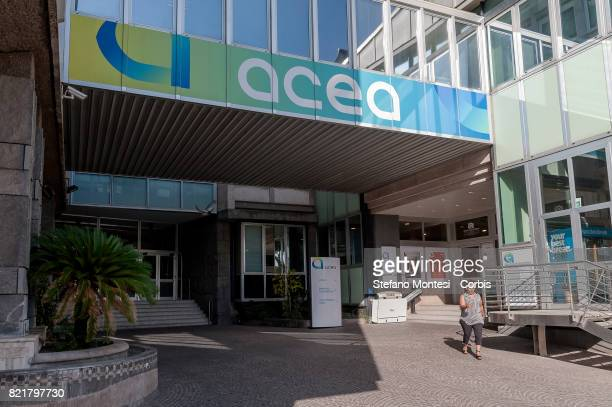 The ACEA Headquarters in the Ostiense district on July 24 2017 in Rome Italy Because of the drought the ACEA which manages the water reserves of Rome...