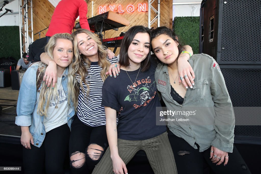 The Aces attend the NYLON's Happiest Of Hours At #TwitterHouse at Bar 96 on March 13, 2017 in Austin, Texas.