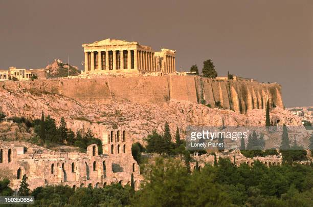 The Acropolis and Parthenon from Filopappou Hill.