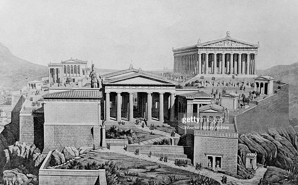 The acropolis as it appeared during the golden age the acropolis of