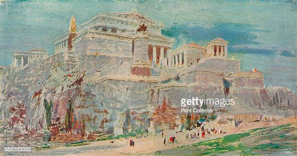 The Acropolis Athens after the Roman Restoration' c1923 From The Studio Volume 85