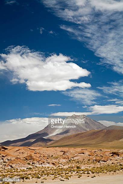 The active volcano Ollague, Altiplano, Bolivia, South America