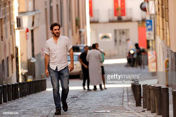 The actor and main character of the Spanish soap opera Old Bridge's Secret Alex Gadea walking in the street in a photo shooting Madrid Spain 9th July...