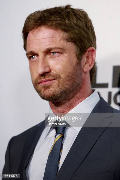 The actor Gerard Butler poses for a photo during the red carpet of the 'Olympus Has Fallen' movie at Antara mall on April 12 2013 in Mexico City...