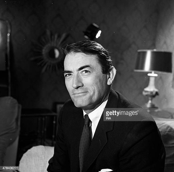 The actor Gregory Peck during the Cannes film festival